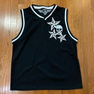 Carbon Shirts - Carbon Jersey Tank Top Skull and Stars - Unisex L